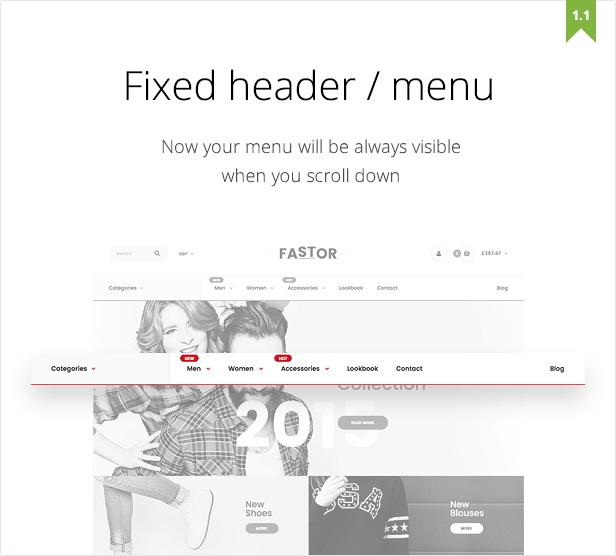 fastor fixed header