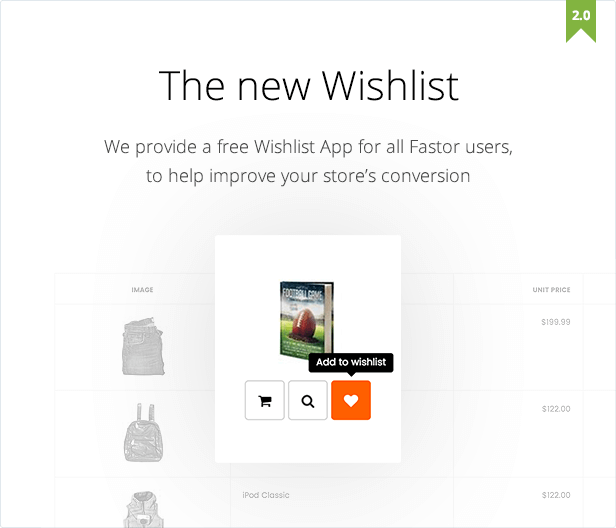 fastor new wishlist
