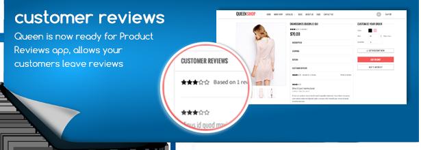 QueenShop features